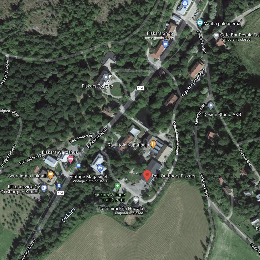 Fiskars rental map